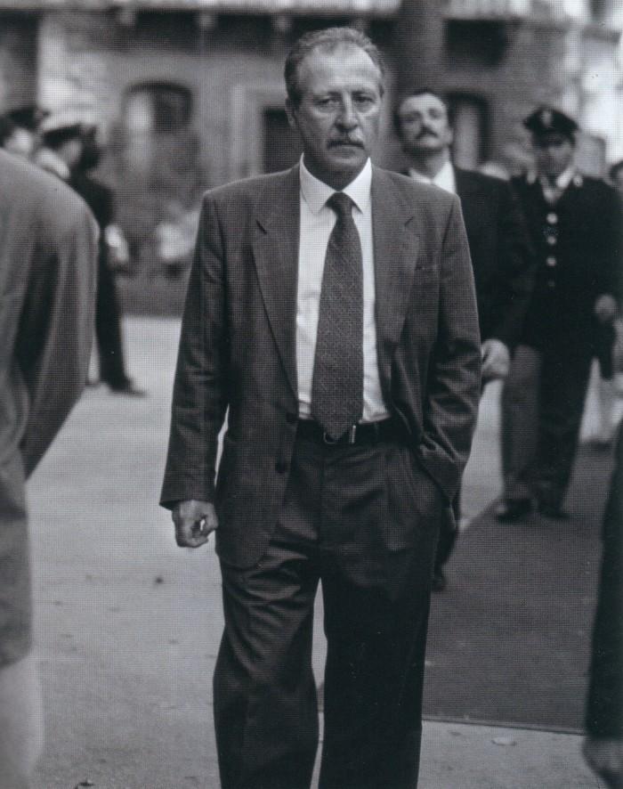Paolo Borsellino à Palerme le 3 mai 1992. Vingt jours plus tard, son ami et collègue Giovanni Falcone allait trouver la mort dans un attentat.