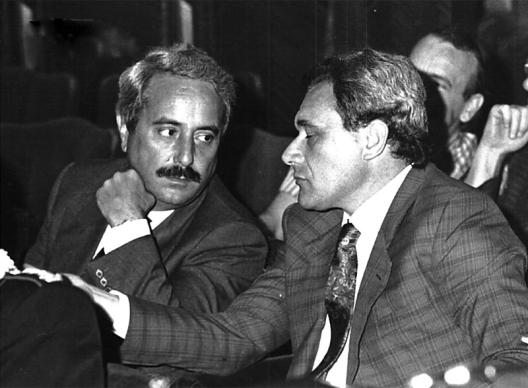 Giovanni Falcone et Pietro Grasso, juges antimafia