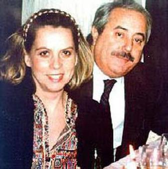Giovanni Falcone et son épouse