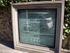 Plaque commémorative en hommage à l'embuscade de la via Fani