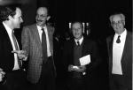 (au centre) Giuseppe Ayala et Paolo Borsellino, juges antimafia