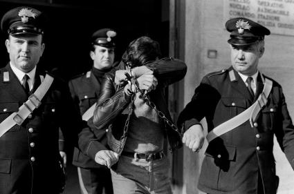 Palermo,1976. Arrestation d'un mafioso en 1977