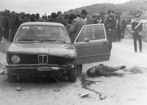 L'attentat manqué contre Giuseppe Di Cristina. Ses gardes du corps n'en réchappent pas.