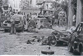 Attentat dans lequel le juge Chinnici a été tué avec son escorte. Via Federico Pipitone à Palerme © Franco ZECCHIN