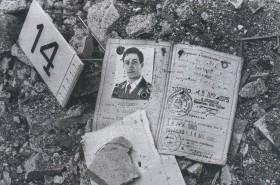 Vestige de l'attentat, la carte de police de Marco Trapassi © Franco ZECCHIN