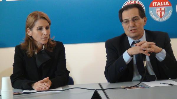 Lucia Borsellino (fille du célèbre juge antimafia Paolo) et Rosario Crocetta