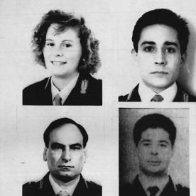Les agents de l'escorte de Paolo Borsellino