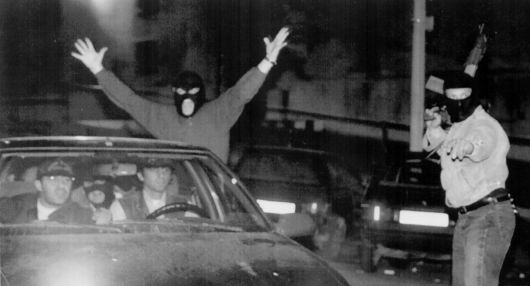 Les policiers ont laissé éclaté leur joie après l'arrestation de Brusca