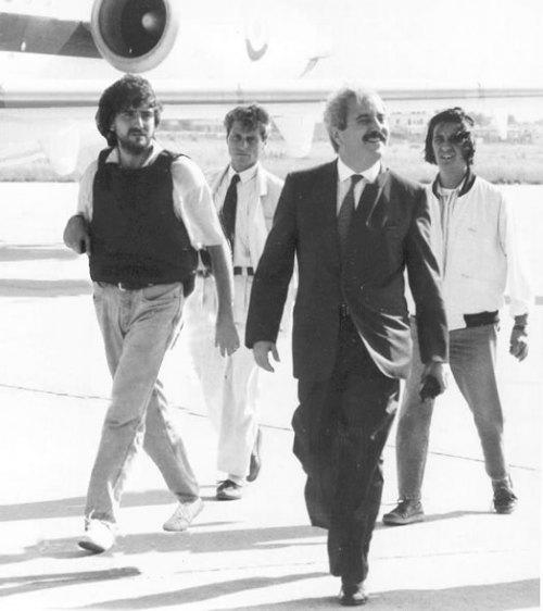 Giovanni Falcone avec son escorte