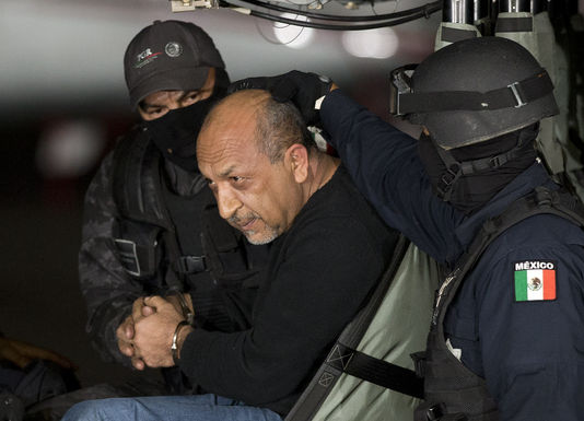 "Arrestation de celui qu'on surnommait ""La Tuta"" / Photo : EDUARDO VERDUGO / AP"