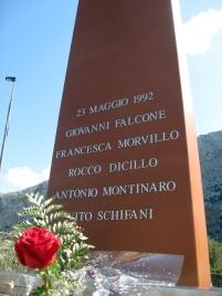 Stèle de commémoration à Capaci - © C. Lovis