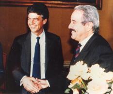 Avec le ministre Martelli (Archive Courier)