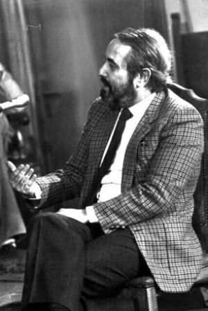 Avril 1984 - Falcone soutient le procès des assassins du juge Rocco Chinnici à Caltanissetta (Photo Ansa - Archives Courier)