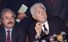 Septembre 85, Falcone Avec Francesco Cossiga (ministre) (Frame)