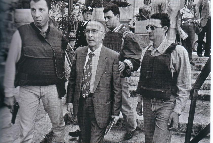 Antonino Caponnetto, le chef du Bureau d'instruction de Palerme qui créa le pool antimafia composé de Giovanni Falcone et Paolo Borsellino notamment.