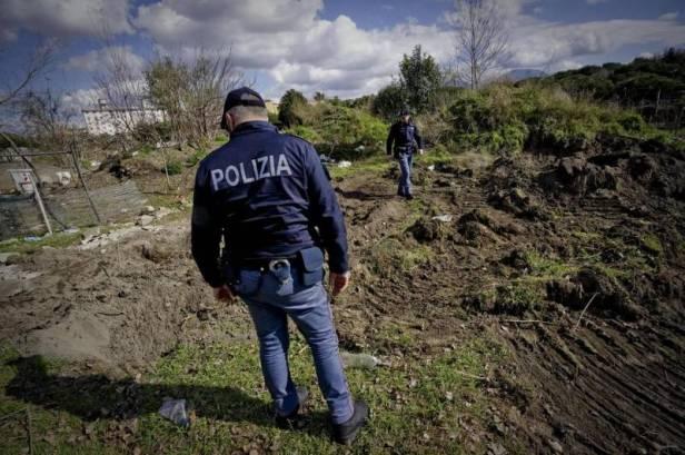 Le trou où fut découvert la victime