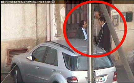Rencontre entre Bosco Lo Giudice et Aiello Alfio. / Image ROS - Catane