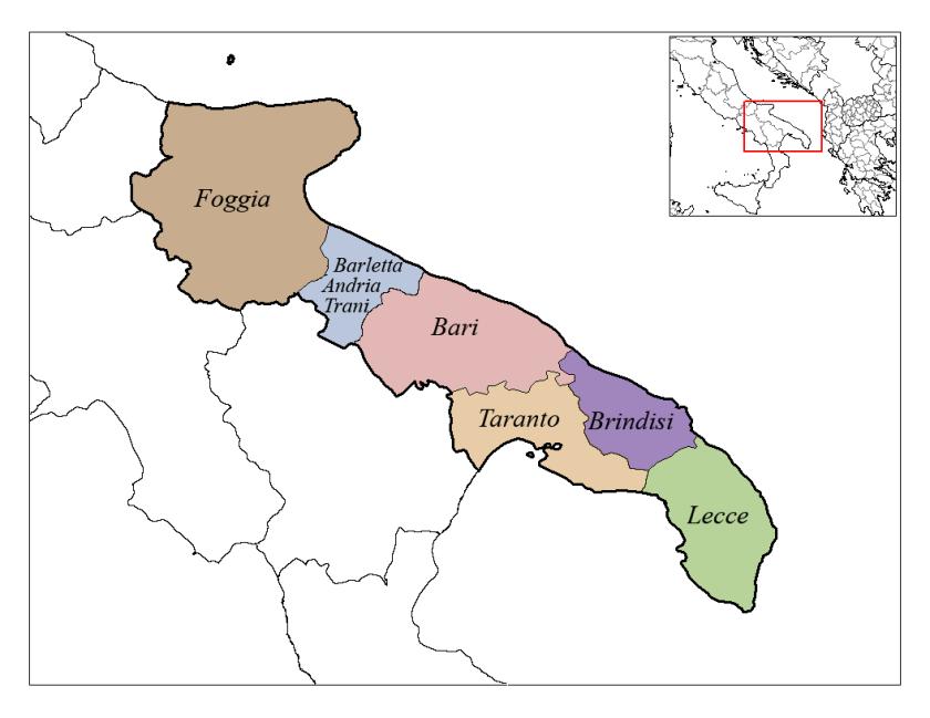 Provinces des Pouilles